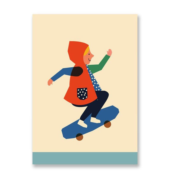 Anna Kövecses Skater Girl Postcard by 1973