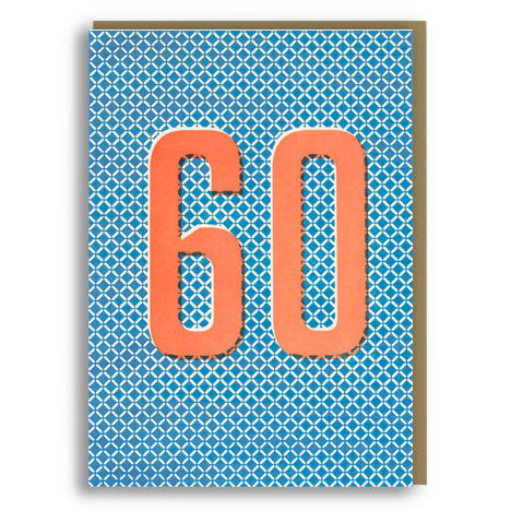 60 Letterpress Card by 1973