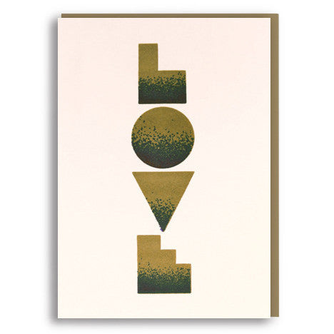 Love Letterpress Card by 1973