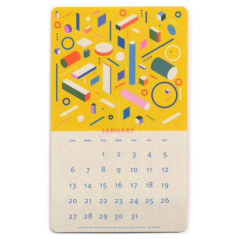 2019 Timeless Calendar by Relative Goods