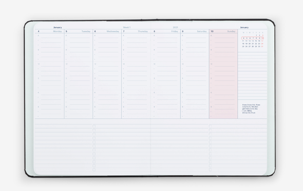 2021 Weekly & Monthly Vertical Planner by Mossery
