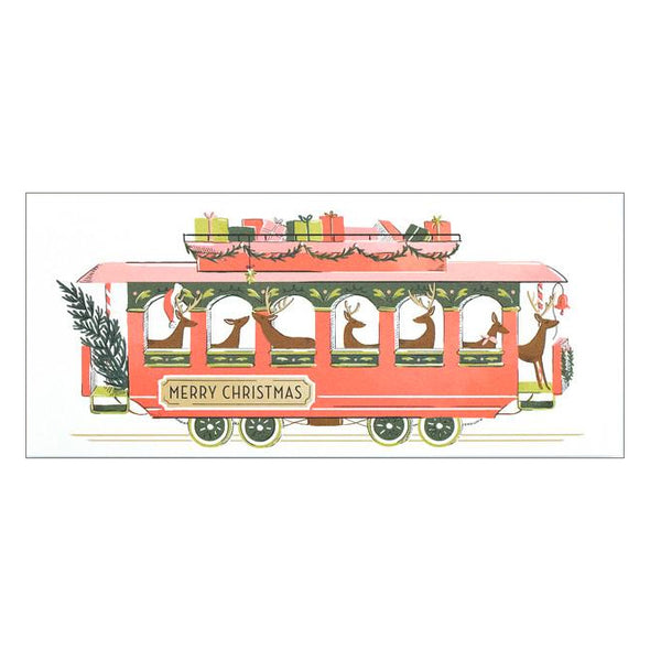 Christmas Trolley Card by Amy Heitman