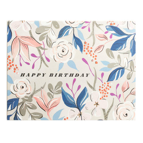 Amy Heitman Floral Birthday Card