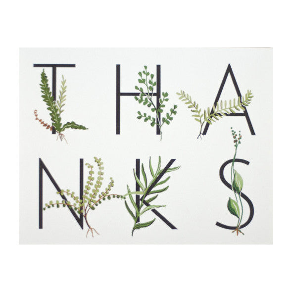 Fern Thanks Card by Amy Heitman