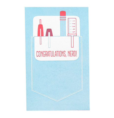 Anemone Letterpress Pocket Grad Card