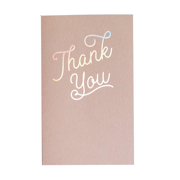 Holo Thanks Card by Anemone Letterpress