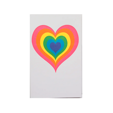 Neon Heart Card by Anemone