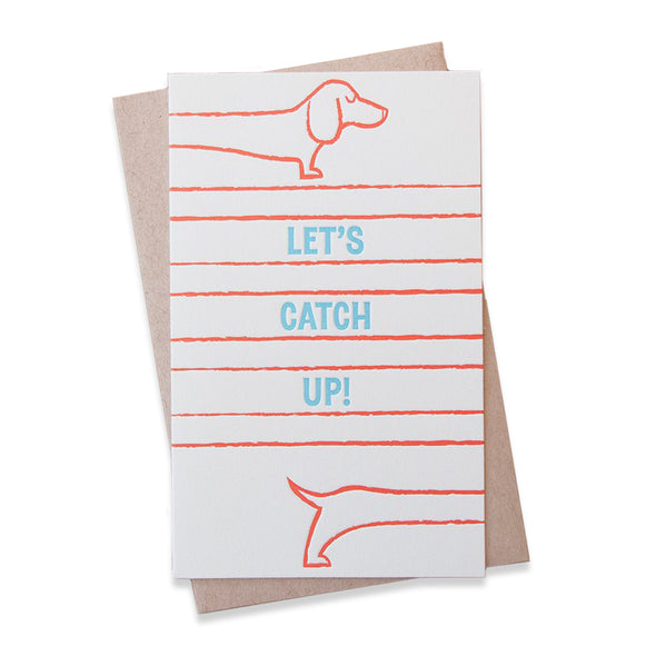 Catch-Up Doxie Card by Anemone Letterpress