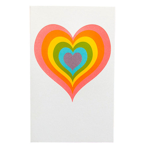 Rainbow Heart Card by Anemone Letterpress