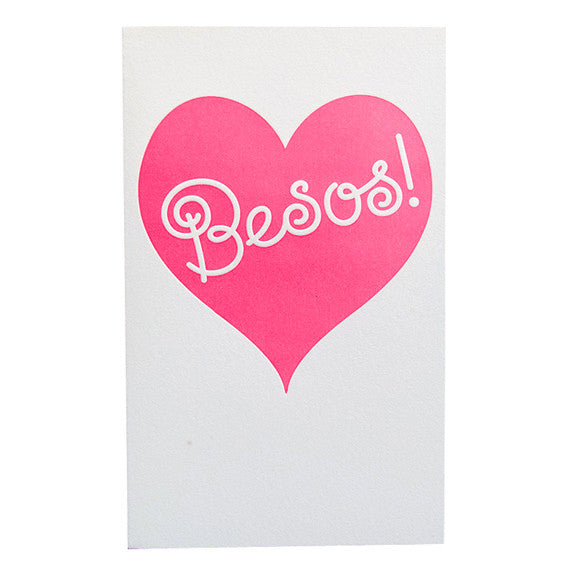 Besos Card by Anemone Letterpress