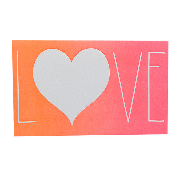 Ombre Love Card by Anemone Letterpress