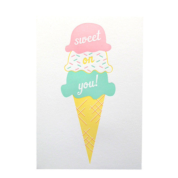 Sweet On You Card by Anemone Letterpress