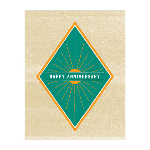 Anniversary Sunburst Card by Hammerpress