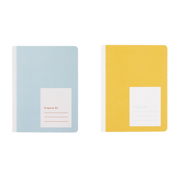 Kids Notebook Set Of 2 by Appointed