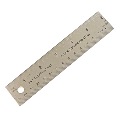 "Stainless Steel 6"" Ruler with Cork Back by Art Alternatives"