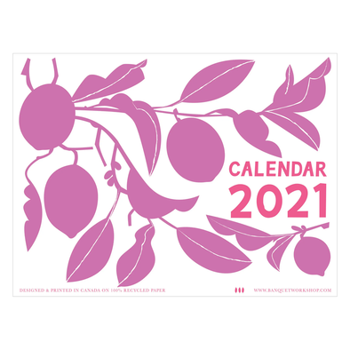 2021 Write-on Fruits Calendar by Banquet Workshop