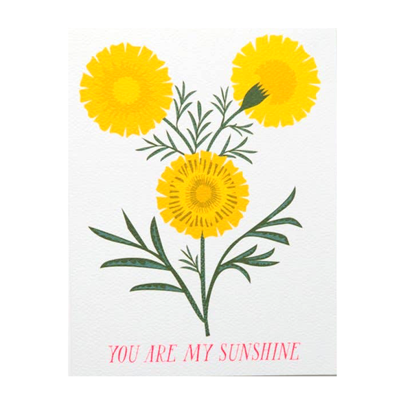 You Are My Sunshine Card by Banquet Workshop