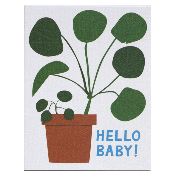 Hello Baby! Houseplant Card by Banquet Workshop