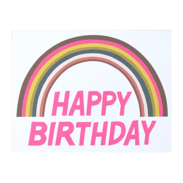 Happy Birthday Rainbow Note Card by Banquet Workshop
