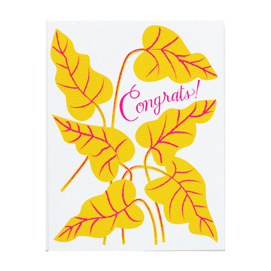 Congrats Yellow Leaves Card by Banquet Workshop