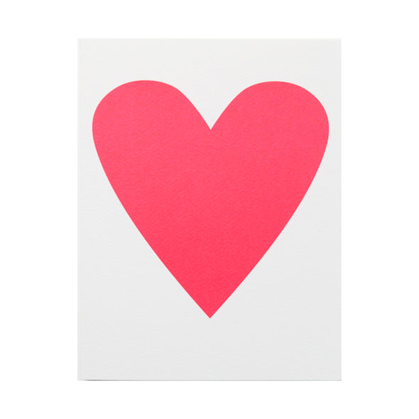 Neon Heart Card by Banquet Workshop