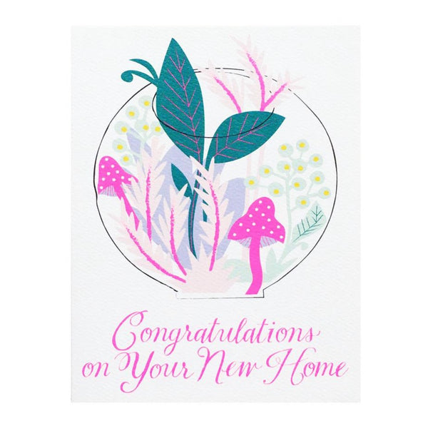 Terrarium Congratulations on Your New Home Card by Banquet Workshop