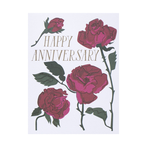 Happy Anniversary Rose Card by Banquet Workshop
