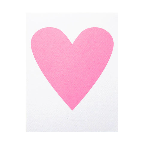 Baby Pink Heart Note Card by Banquet Workshop
