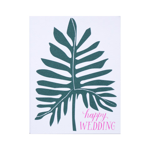 Happy Wedding Note Card by Banquet Workshop