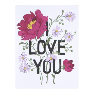 I Love You Bouquet Card by Banquet Workshop