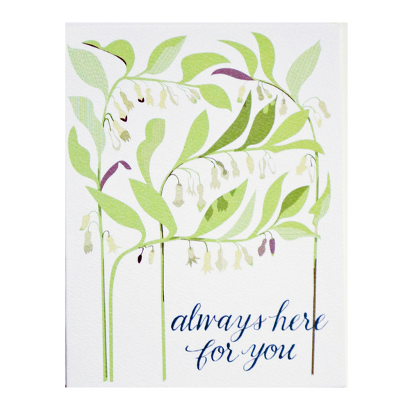 Always Here For You Solomon's Seal Card by Banquet Workshop