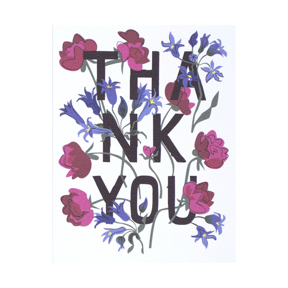 Floral Bouquet Thank You Card by Banquet Workshop