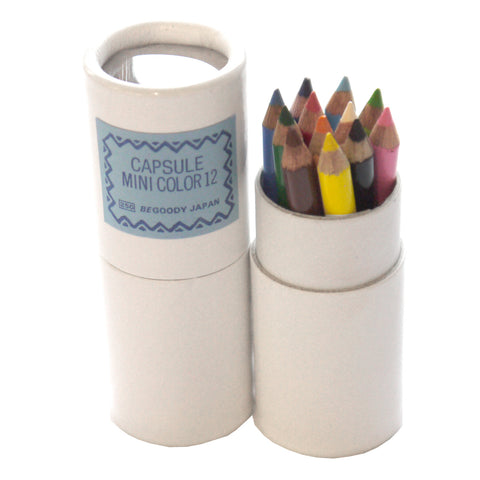 Capsule Mini Color Pencil Set of 12 by Begoody