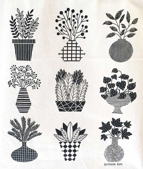 Potted Plants Tote by Boyoun Kim