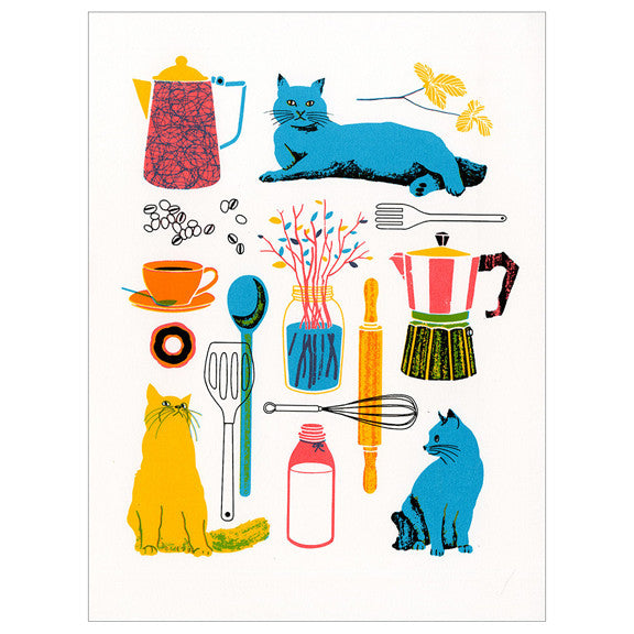 Kitchen Screenprint by Boyoun Kim