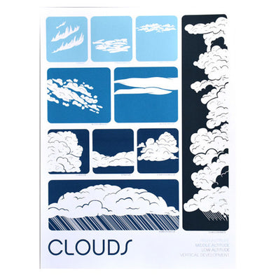 Clouds 18x24 Screenprint by Brainstorm