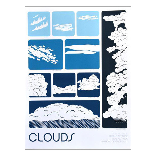 Clouds 11x14 Print by Brainstorm