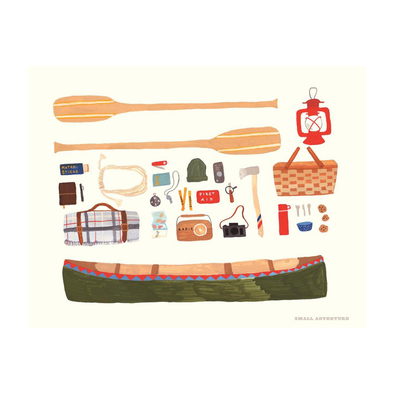 Canoeing Print by Small Adventure