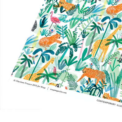 Charlotte Trounce Jungle Animals Wrapping Paper Single Sheet by Wrap