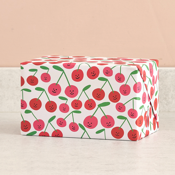 Cherries Wrapping Paper Single Sheet by Wrap
