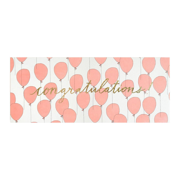Congratulations Balloons with Gold Glitter Foil by Hartland