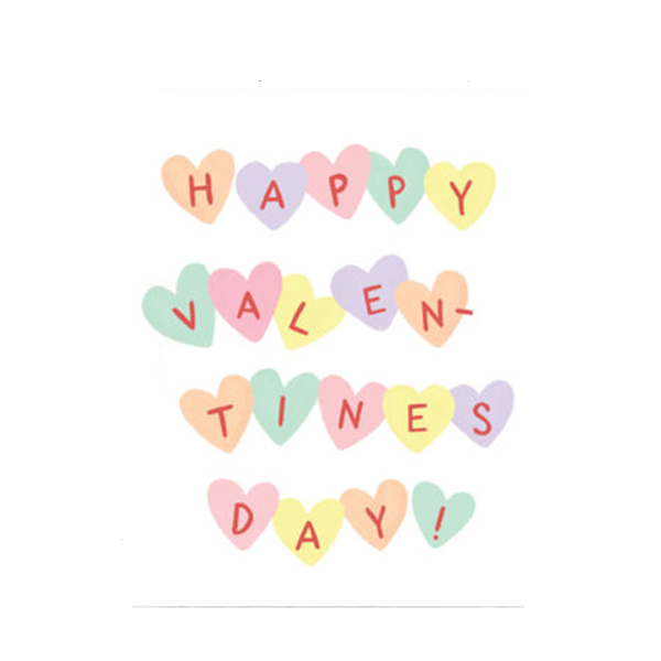 Conversation Hearts Valentine's Day Card by Idlewild Co.