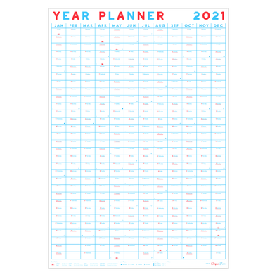 2021 Year Planner Portrait Wall Calendar by Crispin Finn