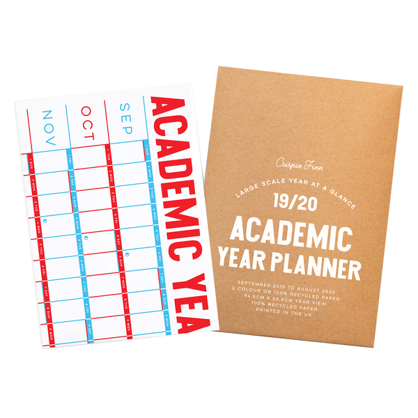 2019-20 Academic Year Planner Wall Calendar by Crispin Finn
