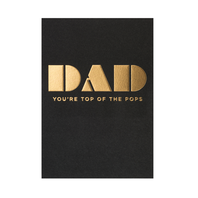 Kelly Hyatt Dad You're Top of the Pops Card by Lagom