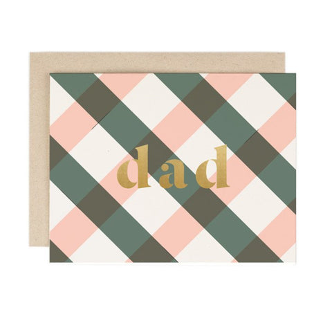Plaid Dad Card by Amy Heitman