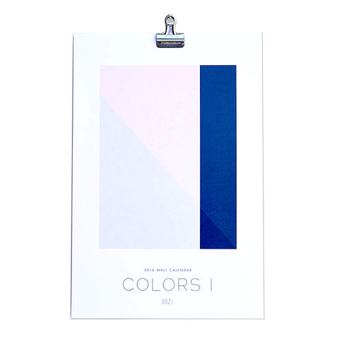 Colors I 2018 Wall Calendar by Dozi