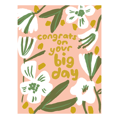 Big Day Congrats Card by Egg Press