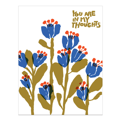 In My Thoughts Flowers Card by Egg Press