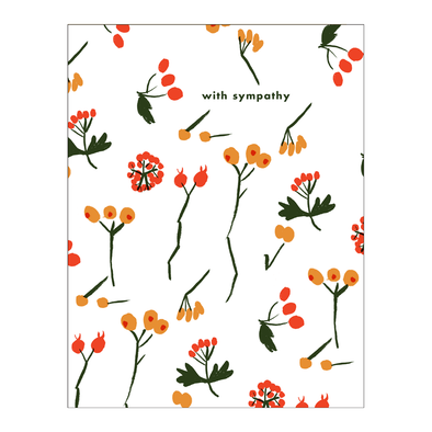 Berry Sympathy Card by Egg Press